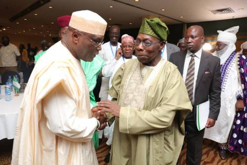 Image result for pictures of obasanjo and atiku