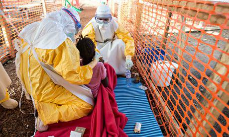 Ebola in West Africa: Patient being treated at Sierra Leone clinic