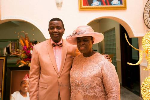 Buhari Joins Pastor Adeboye's Wife In 'Counting Her
