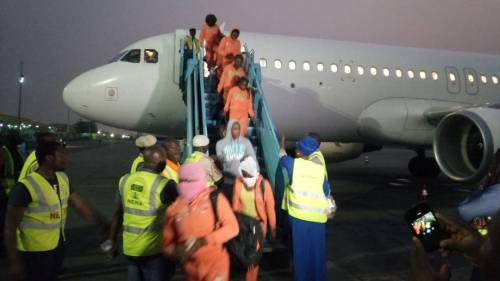 Libya Returnees: Another Batch Of 153 Stranded Nigerians Arrived Nigeria Today, Says NEMA | Sahara Reporters