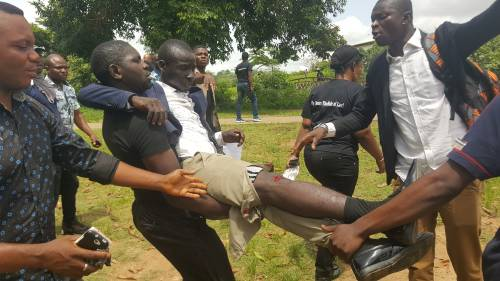One Shot As Police Disrupt Peace Corps Protest In Abuja   Sahara