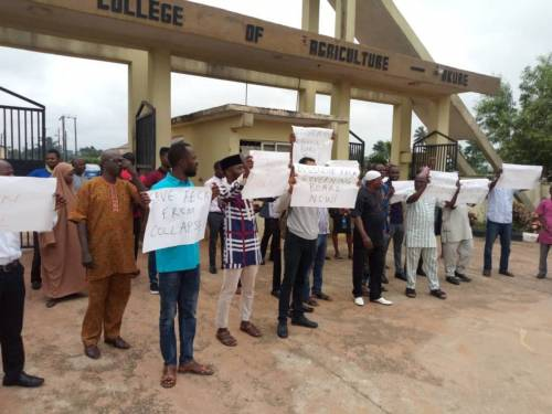 Workers of FECA Protesting. Photo: Sahara Reporters