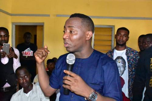 """Sowore was billed to have a one-hour interview with the radio, but a few minutes to the talk show, it was announced that there was order from """"above"""" for the interview to be stood down."""