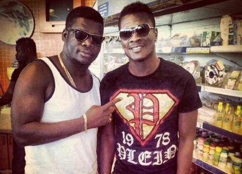 Asamoah Gyan and Hiplife Singer Castro