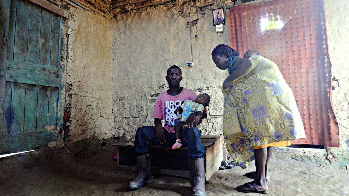 Freeborn and his wife left their house (pictured) because of the health condition of the twins to stay far away from the stench of the oil but they returned in February after the rent fee paid by a sponsor expired