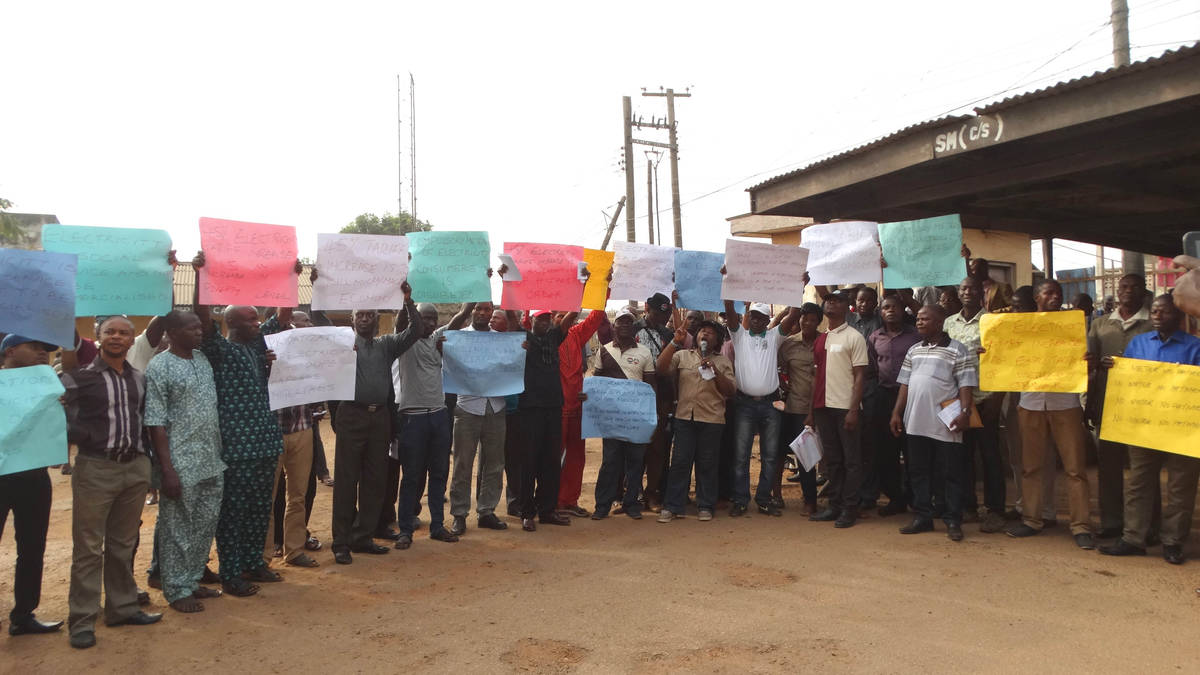 Marchers Protest High Electricity Bill