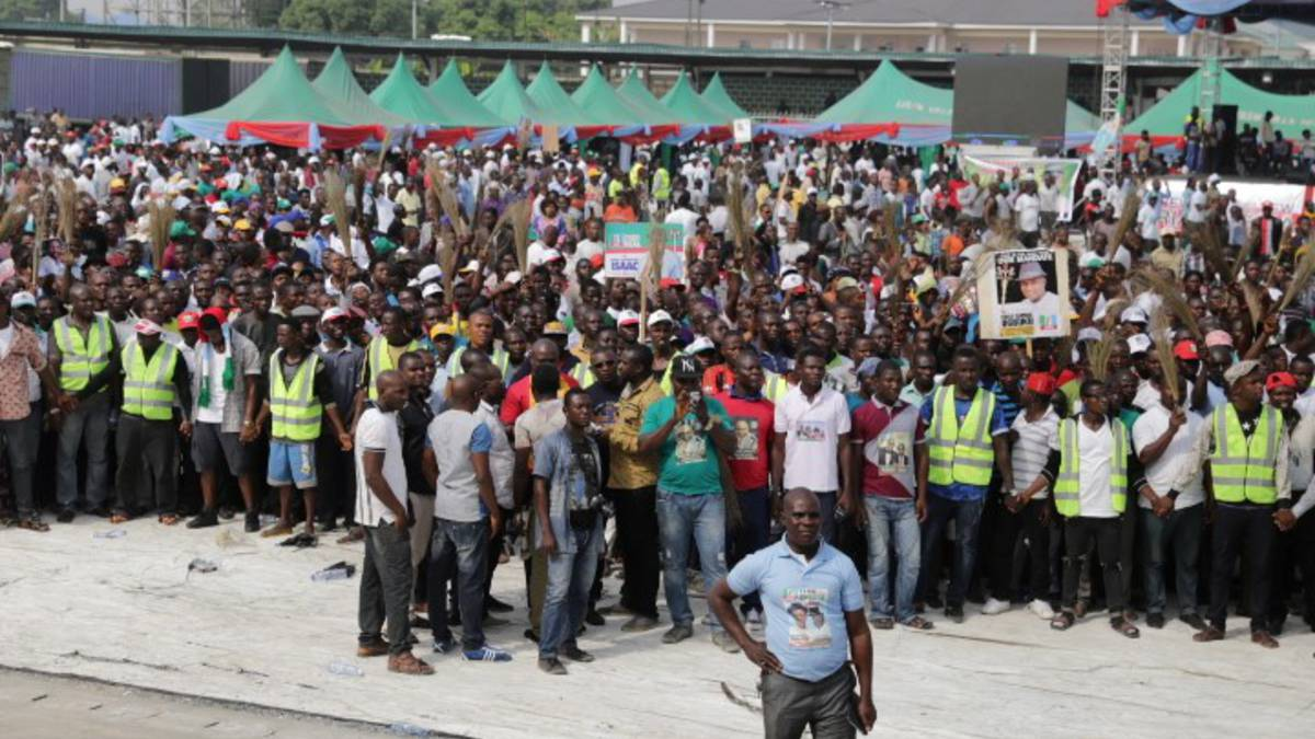 APC supporters at the Muhammadu Buhari Campaign rally in Bayelsa