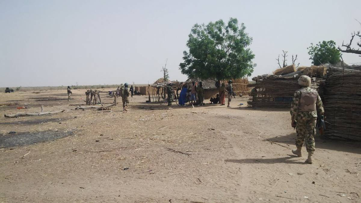 Nigerian troops carrying out Boko Haram clearance operations