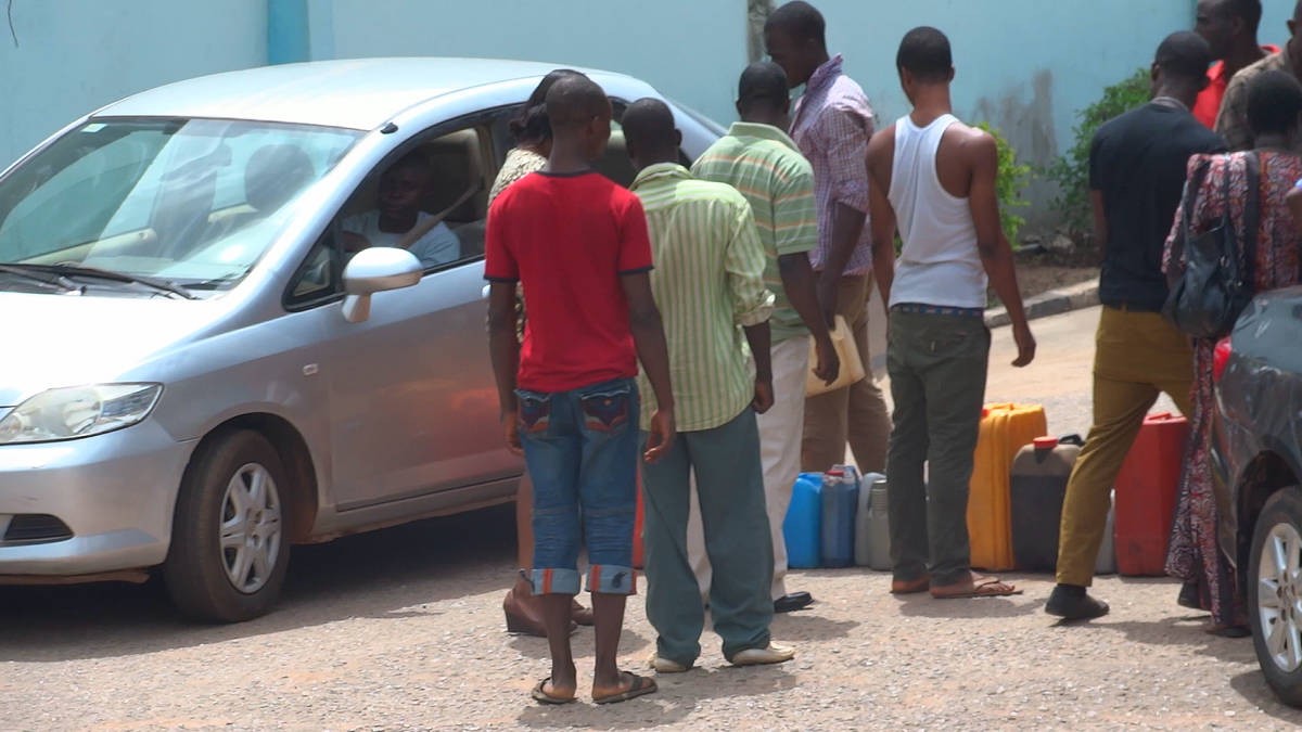 Touts Selling To Impatient Motorists In The Black Market