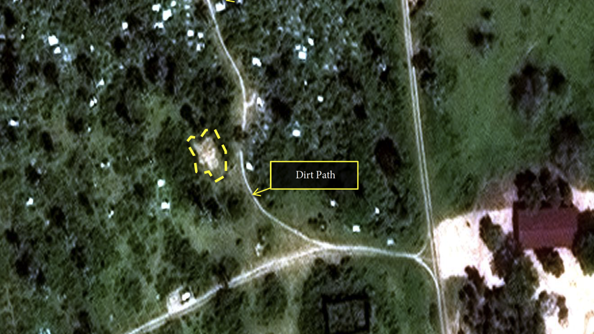 Satellite image of mass burial site in Burundi
