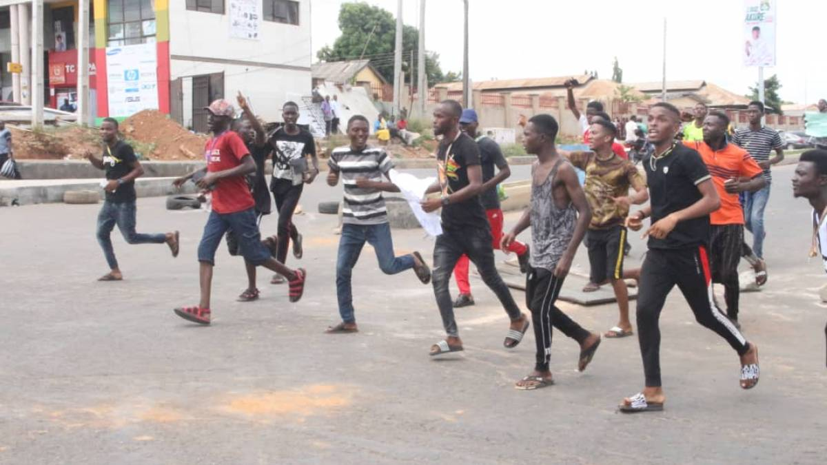 Protesting Ondo State Students