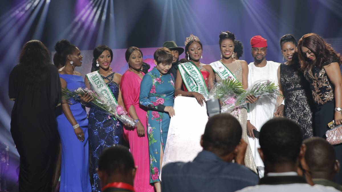 #MissNigeria2017: Winner is Miss Adamawa Ehiguese Mildred Peace Runner Up is Miss Delta,  Rita Chineduand Second Runner Up is Miss Ogun,  Tolulope Ayanfalu Mary