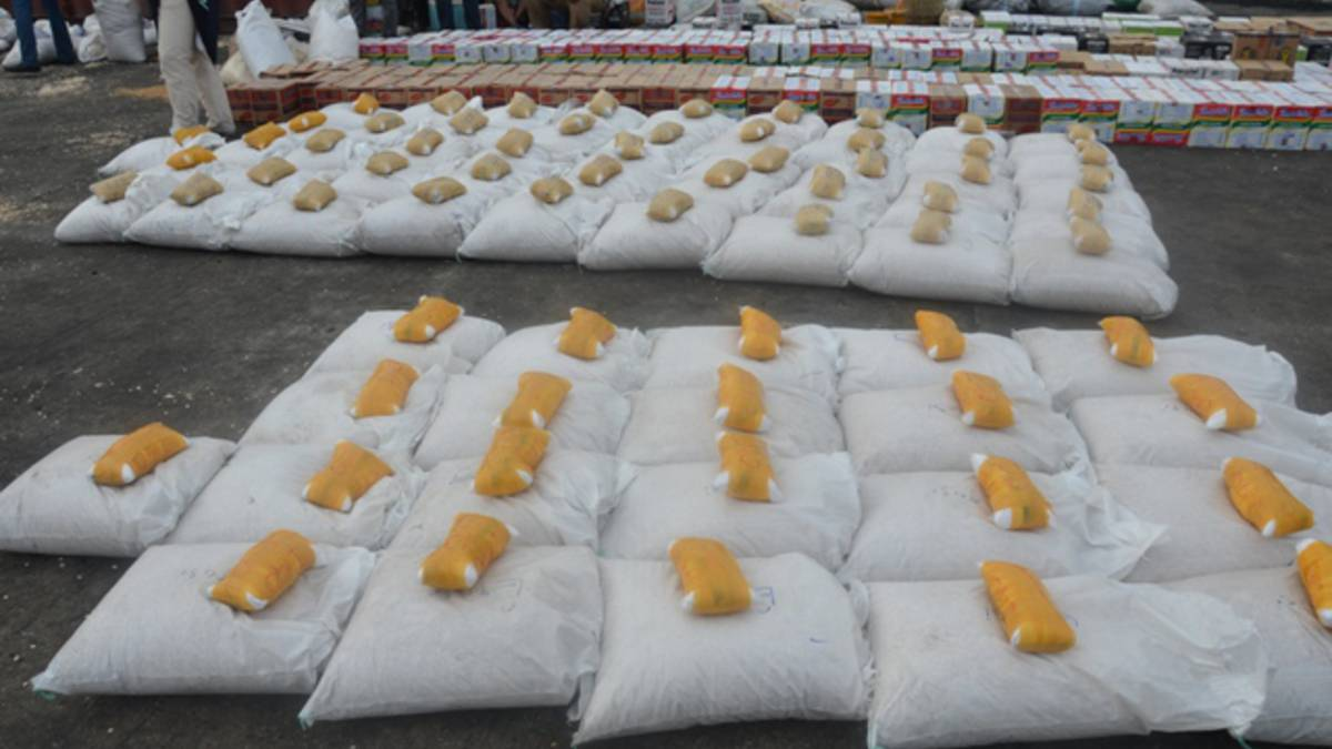 Parcels of drugs found in foodstuff