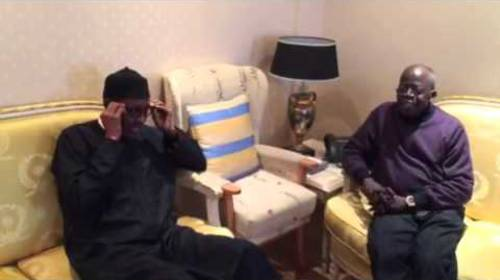 Buhari Cracks A Joke With Bola Tinubu In London