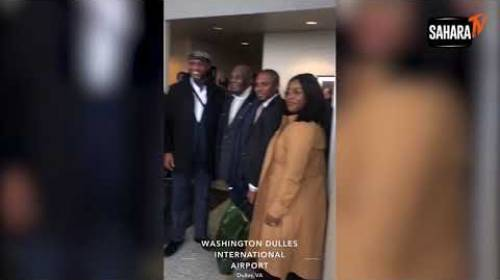 Atiku Arrives In US All Smiles In Saraki's Company