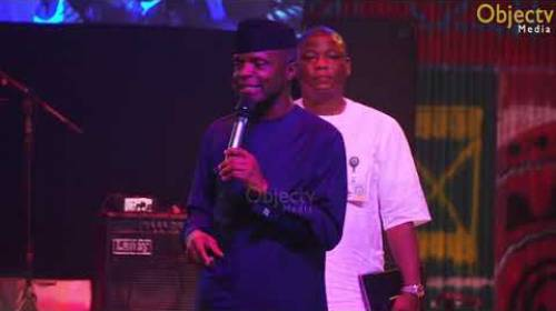 Femi Kuti Rebukes VP Osinbajo's Party to His Face at #Felabration #TheNewAfrikanShrine