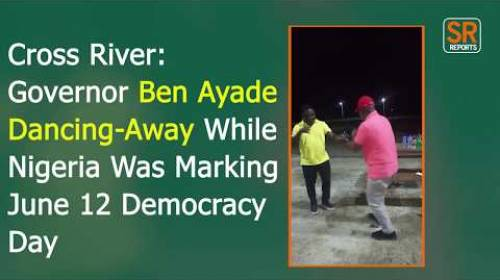 Governor Ben Ayade Dancing-Away While Nigeria Was Marking June 12 Democracy Day