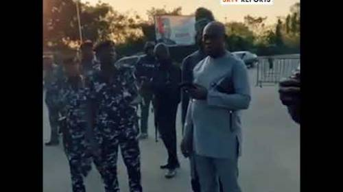 Moment Police Opened Fire On #EndSARS Protesters On Graffiti Action At National Assembly