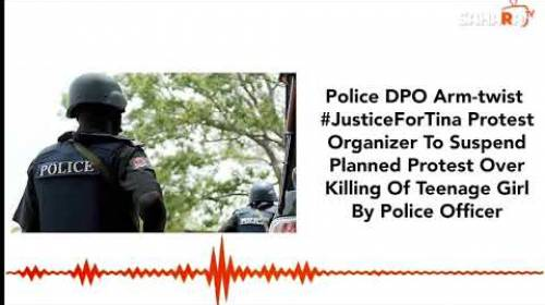 Police DPO Arm-twist #JusticeForTina Protest Organizer To Suspend Planned Protest