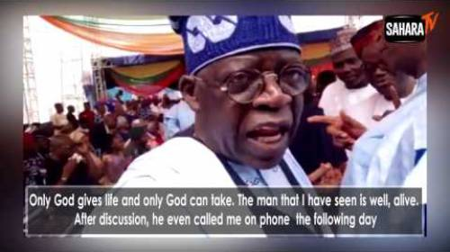 Bola Tinubu discusses possibility of running for Nigeria's Presidency, His Encounter With Buhari