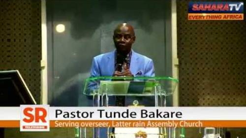 The Seven Signs That 2015 Elections Will Shipwreck Nigeria -Pastor Bakare