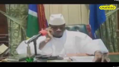 Yahya Jammeh's phone call with ECOWAS Chairperson, Ellen Johnson Sirleaf
